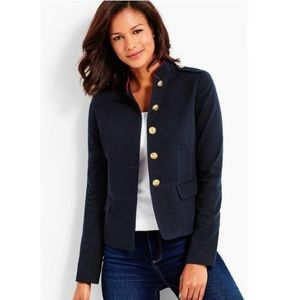Talbots Blue Compact Military Twill Jacket